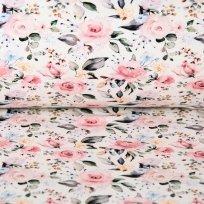 Úplet květy ve starorůžovém odstínu na smetanové