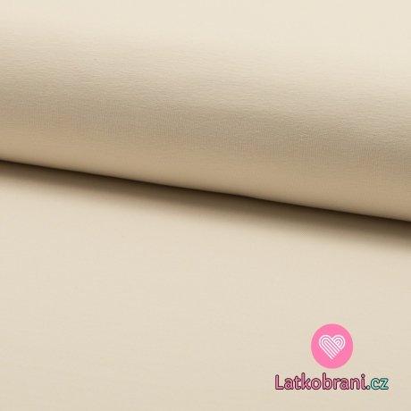Teplákovina jednobarevná smetanová