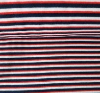 Náplet hladký proužky tmavě modrá, červená, bílá