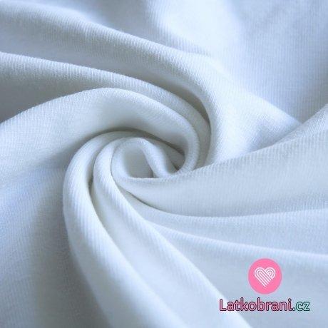 Jednobarevný úplet bílý 220 g, šíře 180 cm