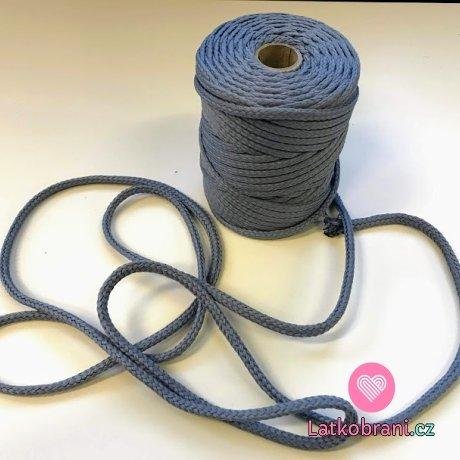 Šňůra kulatá oděvní PES 7 mm ocelově šedá