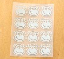 Reflexní nažehlovačka usměvavá opička (12ks)