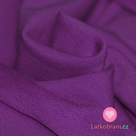 Jednobarevná teplákovina fialová