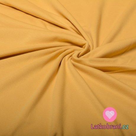 Jednobarevný, oboulícní bavlněný úplet medový