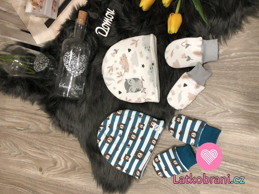 Čepice a rukavičky pro miminko