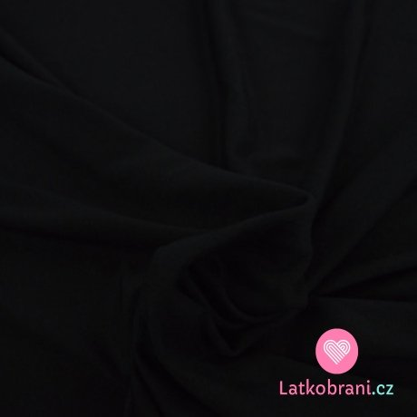 Viskózový jednobarevný úplet černý