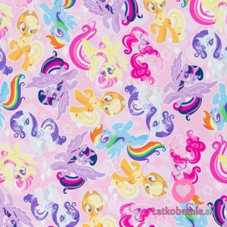 Úplet potisk My little pony na růžové