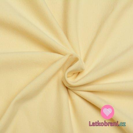 Jednobarevný úplet pastelově žlutý