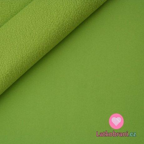 Softshell zelená hrášek s fleecem