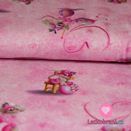 Úplet DIDDL myška na růžové
