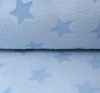 Wellsoft hvězdy vytlačené na jemné modré