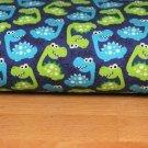 Teplákovina dinosaurus zelený, modrý na královsky modré