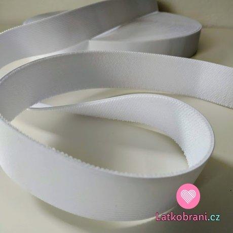 Pruženka barevná bílá 40 mm oděvní