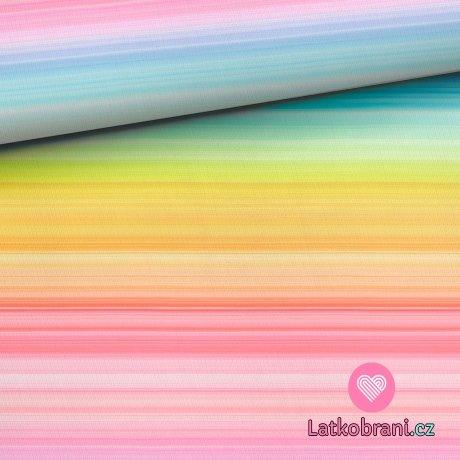 Úplet potisk proužky v barvách duhy