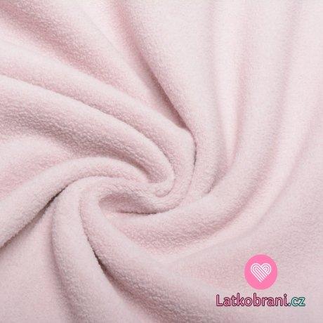 Bavlněný fleece starorůžová (sherpa)