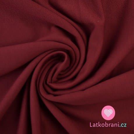 Jednobarevná teplákovina bordo