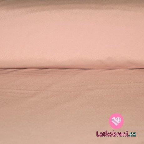 Softshell béžová s jemným nádechem do růžové s fleecem