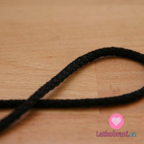 Šňůra kulatá oděvní PES 4 mm černá