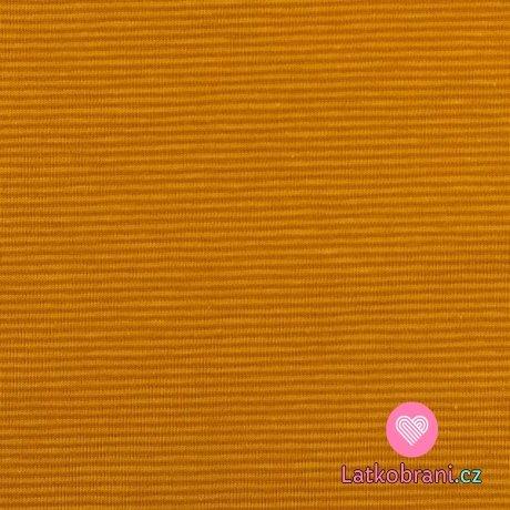 Úplet jemné hořčicové proužky