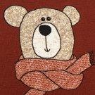 Teplákovina potisk medvídek Méďa na bordové