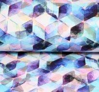 Teplákovina 3D geometrie fialovo-černá