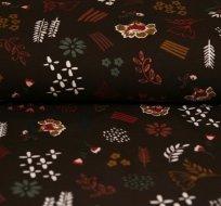 Úplet různé květiny na čokoládové