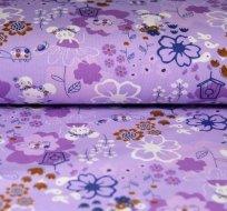 Úplet roztomilá myška na fialové