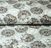 Úplet pampeliškové chmíří na šedé melé