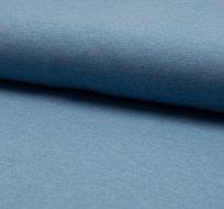 Jednobarevný úplet středně modrá obloha melange