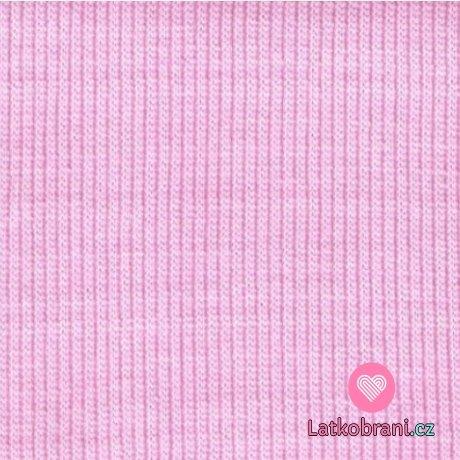 Náplet žebro růžová holčičí