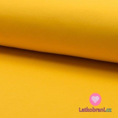 Teplákovina počesaná sytá žlutá