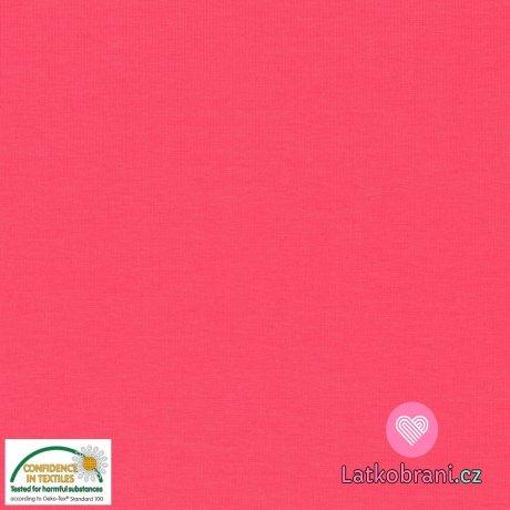 Jednobarevný úplet růžový 220 g
