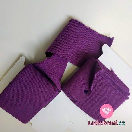 Náplet kusový jednobarevný fialový 135 cm