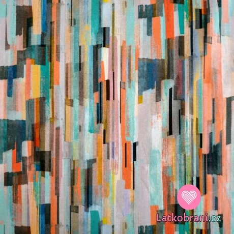Úplet potisk různě barevné abstraktní proužky