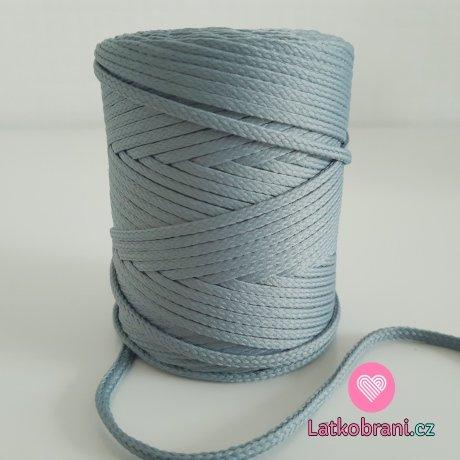 Šňůra oděvní kulatá  PES 4 mm tmavší šedá