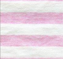 Úplet růžové melé s bílými proužky 1,3cm