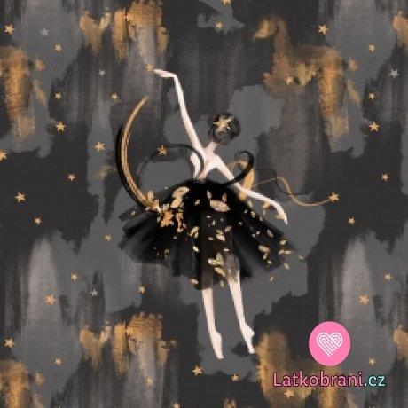Panel baletka na zlato šedém podkladu