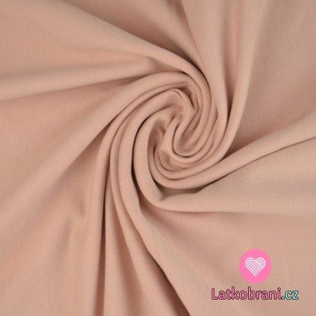 Jednobarevná teplákovina pudrově růžová