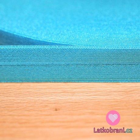 Šikmý proužek / lemovací pruženka tyrkysově modrá