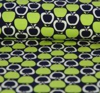 Úplet jablíčka zelená na tmavě modrém podkladu