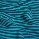 Úplet proužky modré smaragdové s petrolejovou (střední)