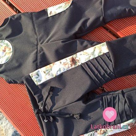 Softshellové lacláčky a kalhoty se zvířátky a podšívkou