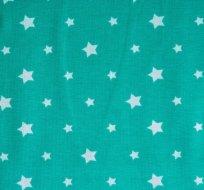 Úplet hvězdy světle modré na smaragdové (různě veliké)