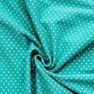 Úplet puntíky bílé na smaragdové (malý)