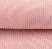 Náplet hrubé žebro světlá růžová s lurexem 630g