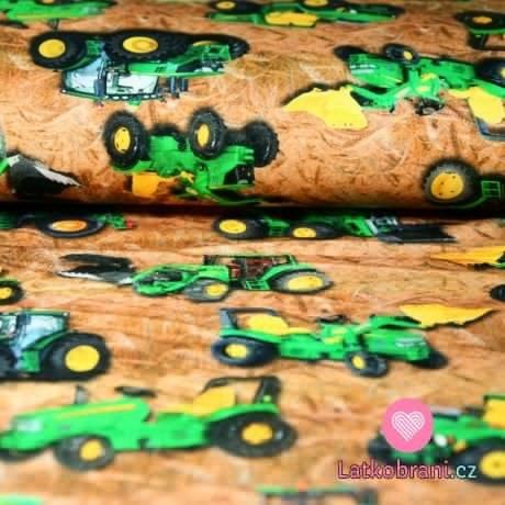 Teplákovina potisk traktory a bagry mezi obilím