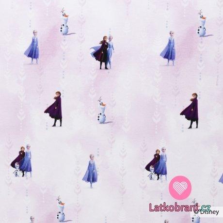 Úplet potisk Ledového království 2 na růžovém pozadí