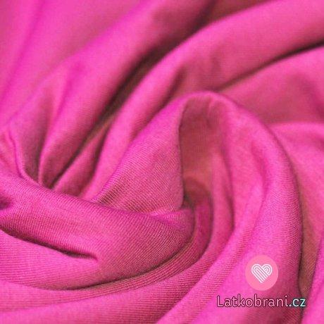 Jednobarevný úplet výrazně růžový 240 g