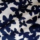Úplet potisk tmavě modré navy motýli na bílé 160 g