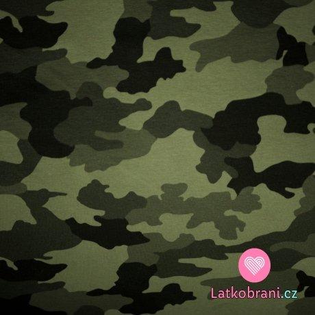 Úplet potisk maskáč do army zelené 200 g